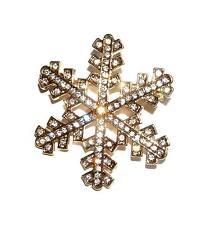 BROOCH/PIN Lots Of Tiny Clear Rhinestones GT WINTER SNOWFLAKE