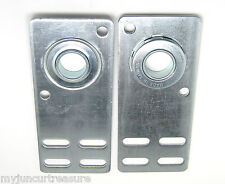"Garage Door Flat End Bearing Plates 4 3/8"" ( Pair )"