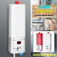 5500W Tankless Electric Shower Instant Hot Water Heater Bathroom Kitchen