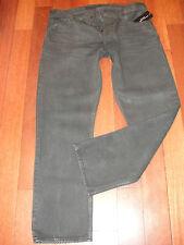NWT $350 RALPH LAUREN Black Label Straight Fit Coated Jean Black size 36/30