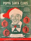 BING CROSBY & SONS sheet music POPPA SANTA CLAUS (1950) CHRISTMAS sheet music