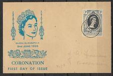 UK  Ascension Island Old FDC Wrapper Elizabeth II Coronation 1953
