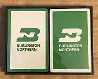 VINTAGE Burlington Northern Railroad Dual Deck Cards