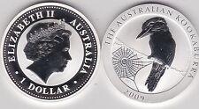 2009 Australia Plata 1 OZ (approx. 28.35 g). Kookaburra admirando las Arañas Web en Cápsula