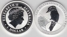 2009 AUSTRALIA SILVER 1oz.KOOKABURRA ADMIRING SPIDERS WEB IN CAPSULE