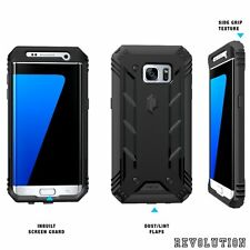 For Galaxy S7 Edge Case Black POETIC【Revolution】Dust Resistant  Ru