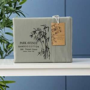 Park Avenue 500 Thread Count JADE Natural Bamboo Cotton Sheet Set