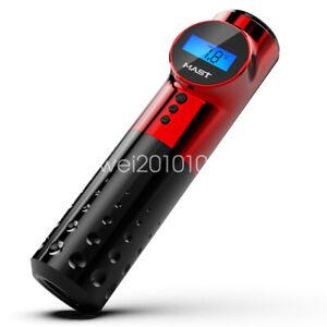 Mast Wireless Battery Tattoo Pen Machine Rotary LED Display Permanent Make UpE