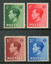 Gb 1936 Edward Viii Definitive Stamps Set (4) Unmounted Mint Mnh Uk Seller