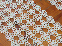 Crochet table runner set of two, Long crochet rectangle lace doily Floral