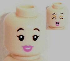 LEGO Luce carne Minifig Head x 1 Doppio Lato Rosa Scuro Labbra Smile /& preoccupato Patt
