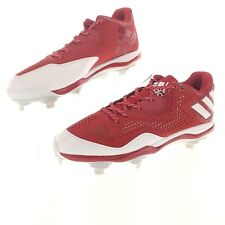 adidas Mens 14 Power Alley Baseball Cleats Red White Silver Metallic Q16486