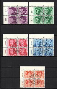 Suiza, año 1969, serie completo en bloque de cuatro, usado, Michel-Euro 8,00