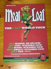 MEAT LOAF - AUSTRALIA 2004 - THE LAST WORLD TOUR - LAMINATED PROMO POSTER