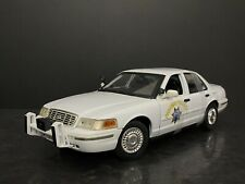 2010 Ford Crown Victoria CHP California Highway Patrol White Last Edition 1/18