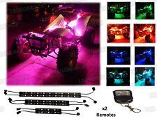 6pc MULTI COLOR LED ATV UTV QUAD 4WHEELER UNDER GLOW LIGHT KIT 2-REMOTE CONTROLS