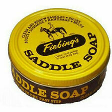 Fiebing's Yellow Saddle Soap Cleaner- Preserves Leather, Boots, Saddle Tack 12oz