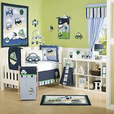 Kidsline Baby Bedding Crib Cot Bumpers Quilt Sheet Set- 9 Piece Cambridge Boys