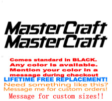 """PAIR OF 3"""" X 28"""" MASTERCRAFT BOAT HULL  DECALS MARINE GRADE YOUR COLOR CHOICE 88"""