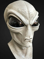 Deluxe GREY ALIEN Latex Mask - WEARABLE- Awesome quality