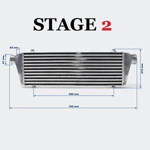 Intercooler Frontale universale MAGGIORATO STAGE 2 550 x 180 x 65 6.2 Litri