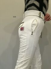 BOGNER WOMEN INSULATED WHITE SKI PANTS WHITE Style 3150