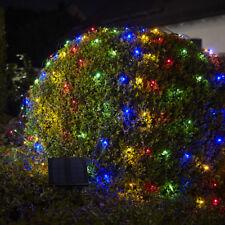 200er LED Solar Lichternetz Außenlichterkette LEDs Netz 1,5x2,4 M bunte LED XM66