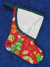 Cross Stitch Mini Christmas Stocking Cats & Dogs Tree Lights Wreath Personalise