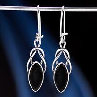 Onyx Silber 925 Ohrringe Damen Schmuck Sterlingsilber H592
