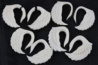 White Swan Bone Carved Hangers - C045