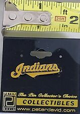 CLEVELAND INDIANS Gold Tone Peter David Lapel Pin Tac Vintage NWT1995