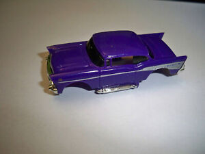 Tyco Purple 1957 Chevy slot car Body Unused NOS Fresh from master case