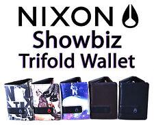 Nixon Showbiz tríptica Billetera Monedero Tarjeta Dinero nota moneda portador calidad fabricado