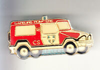 RARE PINS PIN'S .. POMPIER FIRE CAMION TRUCK 4X4 MERCEDES HANOMAG LE LUDE 72 ~CD