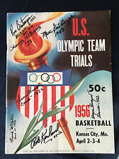 1952 Olympic Gold Medal Basketball Team Signed Program For 1956 Olympic Trials