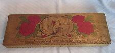 Antique Vintage RELLIM HOSIERY Wood Pyrograph Men Socks Advertisng Display Box