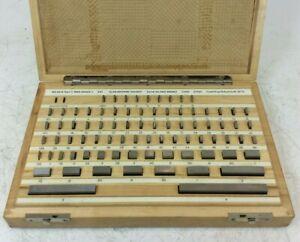 """Alan Browne Steel Slip Gauge Set   0.05 - 4"""" Range   81 Pieces   Grade 1"""