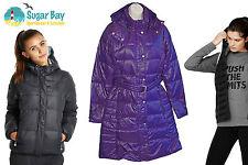 Nike Sportswear NSW 550 Down Long Puffa Parka Womens Ladies Jacket Coat Purple
