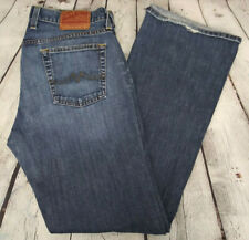 LUCKY BRAND Size 8 / 29 Womens CROPPED Stretch LOW RISE Denim Blue Jeans