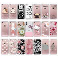 Cartoon Animal Lovely Soft TPU Phone Case Cover For Iphone 5c 4 5 6 Plus 7 6s 8