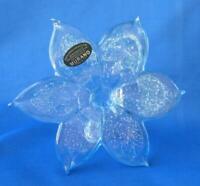 Genuine Italian Flower Blown Glass Murano light blue color Italy No 484