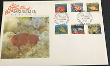 Australia Fdc Large 1984 The Great Barrier Reef Marine Life Series 1