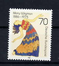 BRD FRANCOBOLLI 1986 Mary Wigman mi. n. 1301 ** Fresco Posta