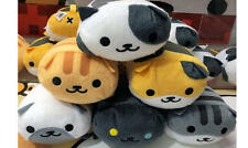 NEW Nekoatume Cute Pudgy Cat 3.5 'Plush Toy Set Tag Mike Shirosaba Chatora
