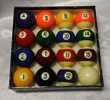 "Deluxe 2 - 1/8""  Pool Billiards Table Balls Set Complete New"