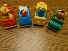Tyco Lot of 4 Sesame Street Toy Cars 1993 Ernie Big Bird Cookie Monster Elmo