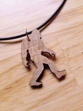 Wood Sasquatch Charm Necklace