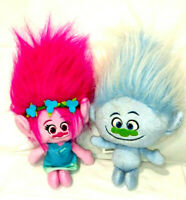 Trolls Plush Guy Diamond & Pink Poppy Stuffed Dolls Toys Hasbro DreamWorks 2015