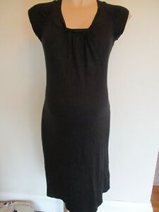 MOTHERCARE MATERNITY BLACK SLEEVELSS GATHERED FRONT DRESS SIZE 12