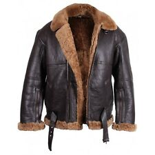 Mens Real Shearling sheepskin Leather Jackets Mens RAF Leather Jackets - Jackets